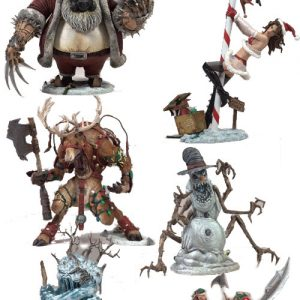 Oasis Collectibles Inc. - Twisted X-mas - Santa Clais, Mrs. Claus, Rudy Rewdeer, Snowman, Jack Frost, Helpers
