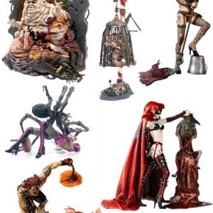 Oasis Collectibles Inc. - Monsters Twisted Fairy-Tales - Humpty Dumpty, Red Riding Hood, Miss Muffet, Gretel, Hansel, Peter Pumpkin Eater