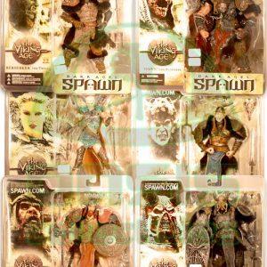 Oasis Collectibles Inc. - Dark Ages Spawn - Valkerie, Dark Raider, Berserker The Troll, Spawn The Bloodaxe, BlueTooth, Skull Splitter