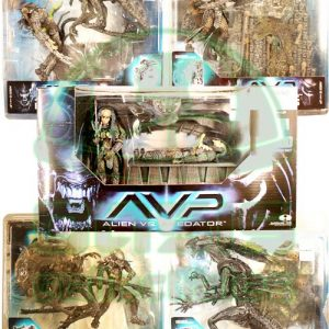 Oasis Collectibles Inc. - A.V.P. - Alien Queen With Base, Birth of Hybrid Box Ed Set, Alien Attacks Predator, Predator W. Base, Celtic Predator Throws Alien