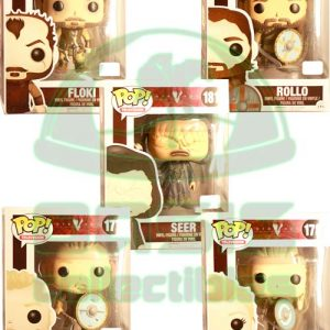 Oasis Collectibles Inc. - Pop T.V. - Vikings - Lagertha #178, Ragnar Lothbrok #177, Rollo, Floki #180, Seer #181